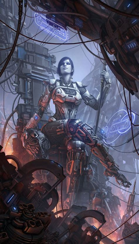 sci fi fantasy art 0957664990 cybernetic psychosis yoyuen by tekkoontan epic art fantasy sci fi felt