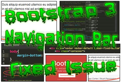 fixed top bar bootstrap bootstrap 3 navigation bar fixed issue cortex web