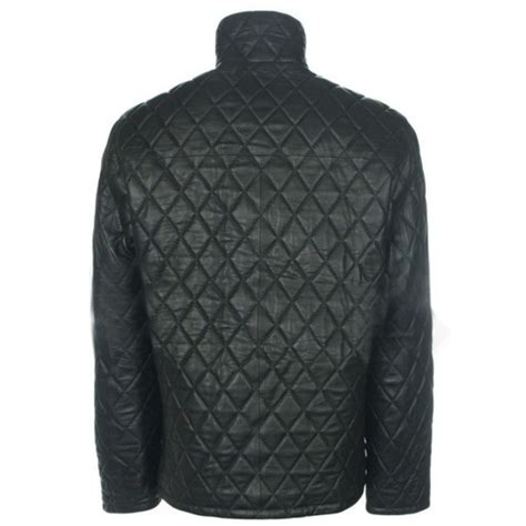 Black Quilted Jacket Mens by Mens Quilted Black Leather Bomber Jacket