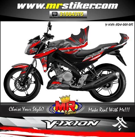 Sticker Yamaha Vixion by Vixion Advance Red Hayabuza Stiker Motor Striping