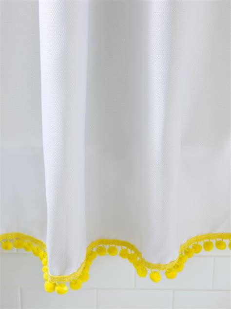 white curtains with yellow trim photo page hgtv