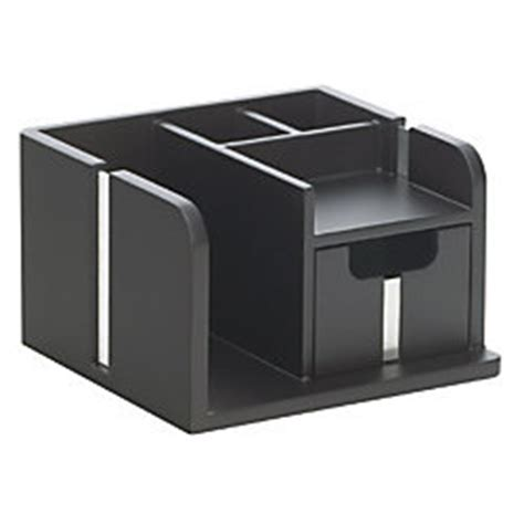 bevel wood desk organizer black finish by office depot
