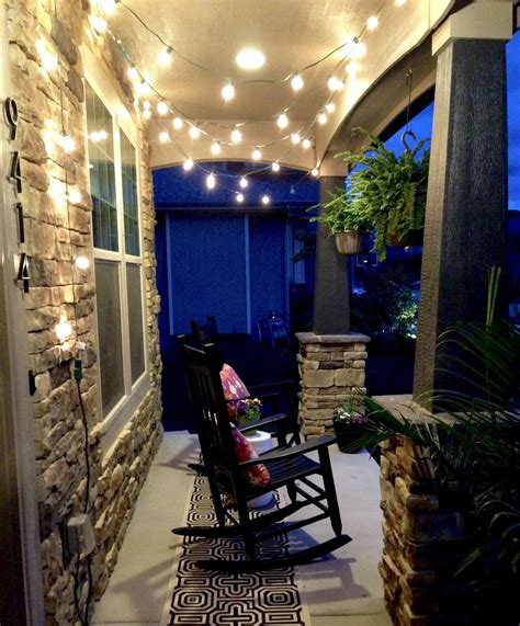 string lights for screened porch life love larson string lights on the front porch