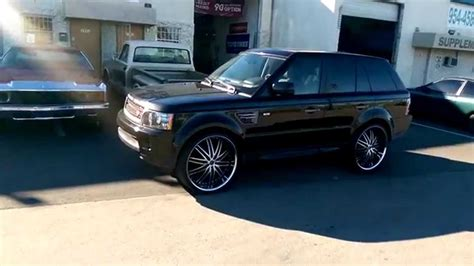 black chrome range rover dubsandtires com 26 quot inch lexani lx 10 black chrome lip