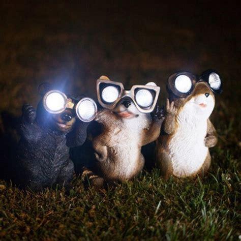solar lighted garden animals 187 garden critter solar lightspetagadget