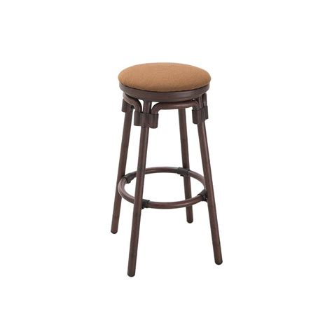 bar stool aluminum sunjoy tiki aluminum dark brown patio bar stool 110207010