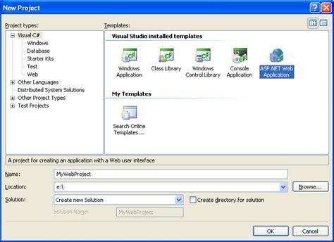 tutorial net web application vs2005web应用程序项目教程 1 building your first web application