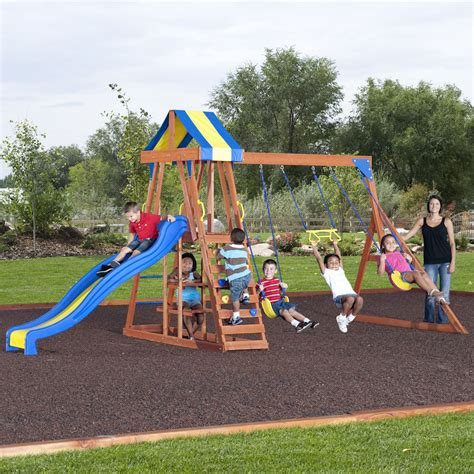 backyard discovery independence swing set backyard discovery independence cedar swing set free