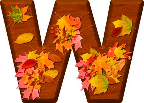 printable leaves with letters presentation alphabets cherry wood leaves letter w