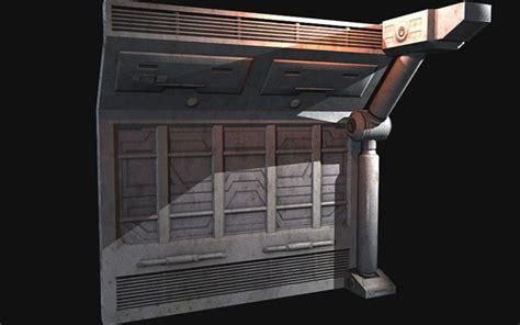3d Wall Panel sci fi corridors building