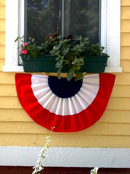 window box with independence day decorations