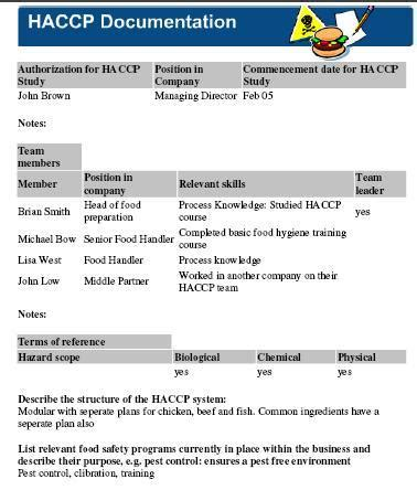 haccp plan template free best haccp template photos exle business resume ideas