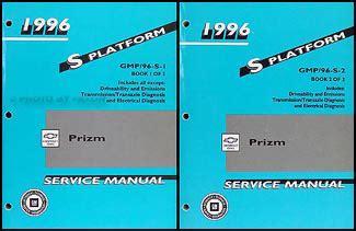 1996 chevy geo prizm repair shop manual original 2 volume set