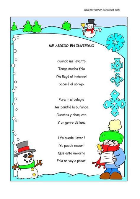 poesia corta con rima poemas y rimas invierno para ni 241 os fichas de primaria