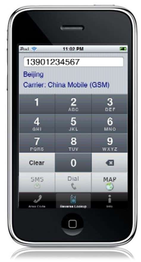 Zip Code Lookup By Phone Number Iphone App China Area Codes Lookup