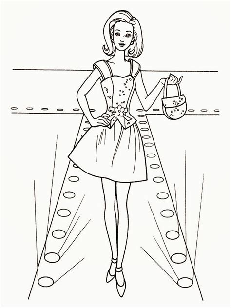 free coloring pages of fashion models