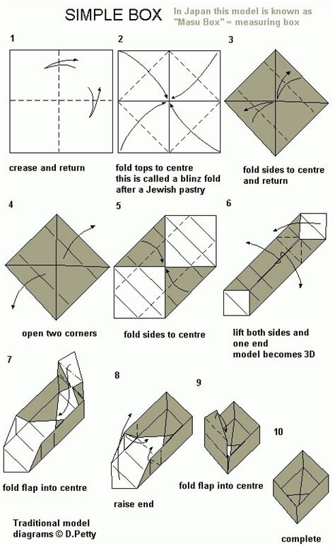 Origami Box Simple - easy origami box hazlo tu mismo