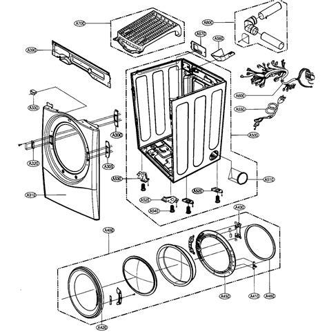 lg dryer parts diagram cabinet door assy diagram parts list for model