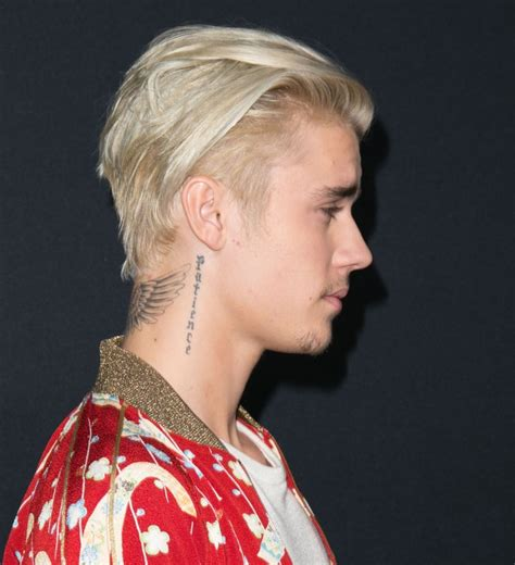 justin bieber neck tattoo justin bieber and his neck photo who2