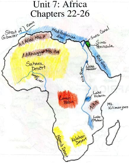 africa map geographical features best photos of blank physical map of africa africa