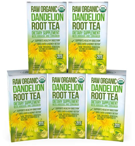 Dandelion Root Tea Detox Recipe by Traditional Medicinals Organic Roasted