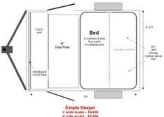 cargo trailer conversion floor plans conversions on pinterest cargo trailer conversion cargo