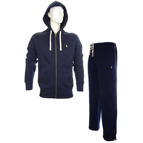 Paolo Moschino by Polo Ralph Lauren Zippered Fleece Hooded Navy Full