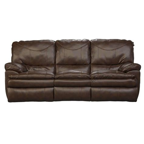 catnapper reclining sofa catnapper perez power reclining leather sofa in chestnut