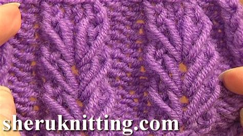 how to make a knit stitch for beginners wheat ear loop stitch pattern tutorial 6 free knitting