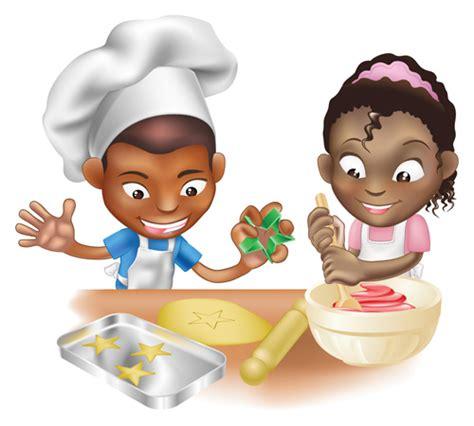 bimbe cucinano children cooking design vector 04 free