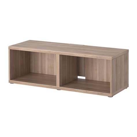 ikea tv besta best 197 tv bench grey stained walnut effect ikea