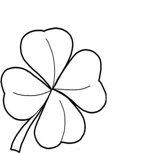 Coloring Page 4 Leaf Clover by Printables Four Leaf Clover Coloring Pages St