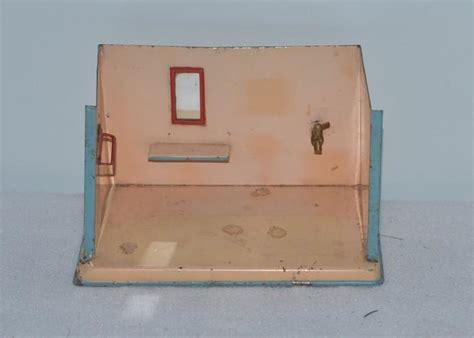 dollhouse room box doll tin miniature bathroom dollhouse room box diorama from oldeclectics on ruby
