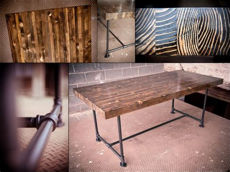 farmhouse table with metal legs industrial butcher block table farmhouse table with