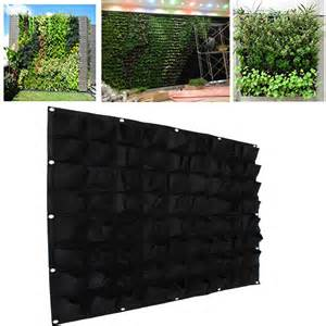 wall planter 72 pockets outdoor vertical greening hanging wall garden plant bags wall planter ebay