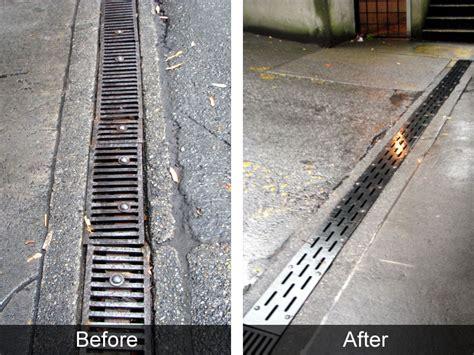 custom continuous trench drain grates bc site service