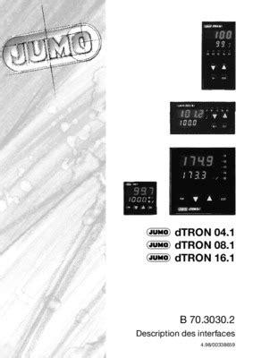 Jumo Dtron 16 1.pdf notice & manuel d'utilisation