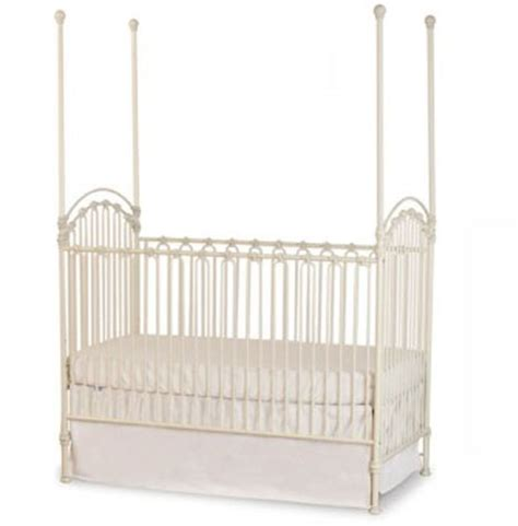 Bratt Decor Venetian Crib Antique White by Design Board Modern Vintage Nursery