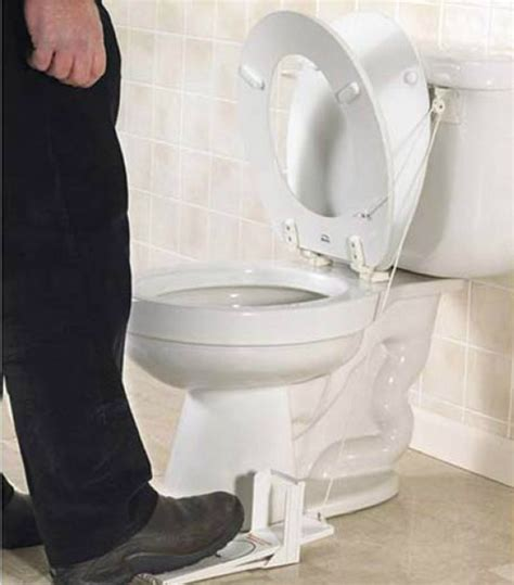 No More Feuds With The Toilet Seat Lifter by 10 Great Inventions For Your Bathroom Alldaychic