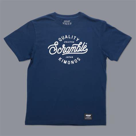 Tshirt Monochrome The Scrambler scramble quality kimonos t shirt navy the grapplers gift