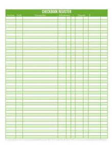 Free printable check registers for checkbooks success