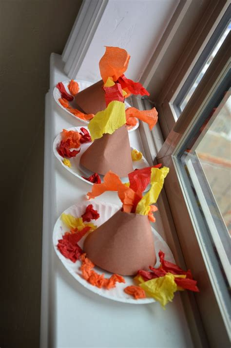 How To Make A Volcano With Construction Paper - 25 best ideas about volcano activities on a
