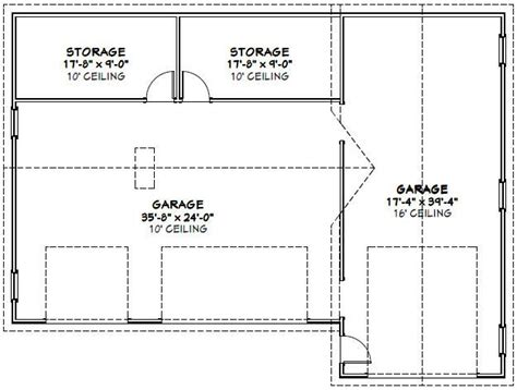 cer trailer floor plans 54x40 1 rv 3 car garage pdf floor plan greenville south