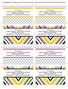 free printable business card templates free printable business cards