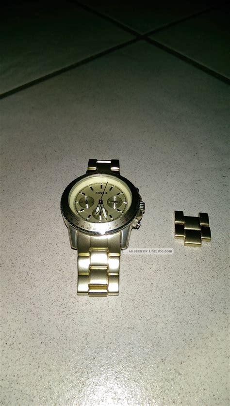 Fossil 3 Chrono fossil gold chronograph uhr ch2708 aluminium damen chrono