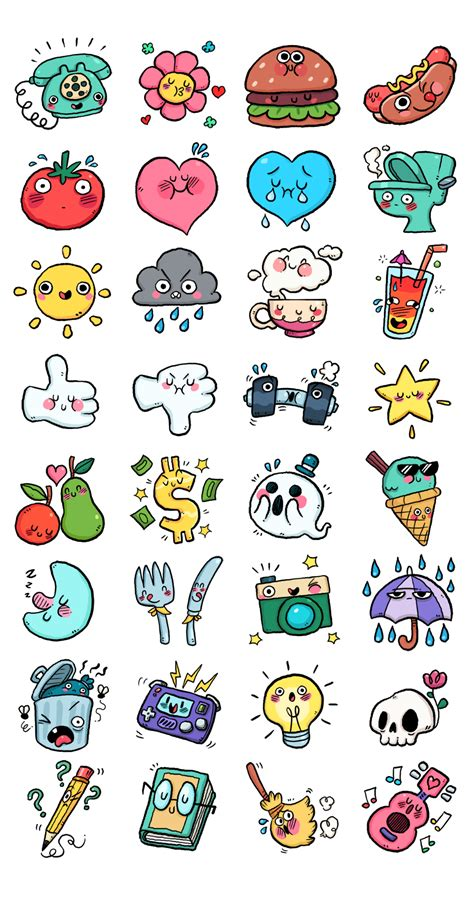sticker doodle draw chat app stickers on behance