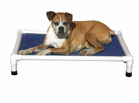 dog cot bed peluche outdoor chewproof elevated dog bed pvc pet cot