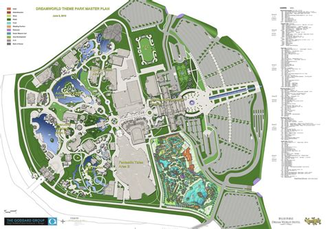 amusement park floor plan mccullough landscape architecture completes design