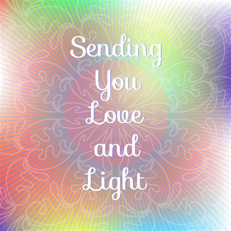 quot sending you love and light quot card templates on creative