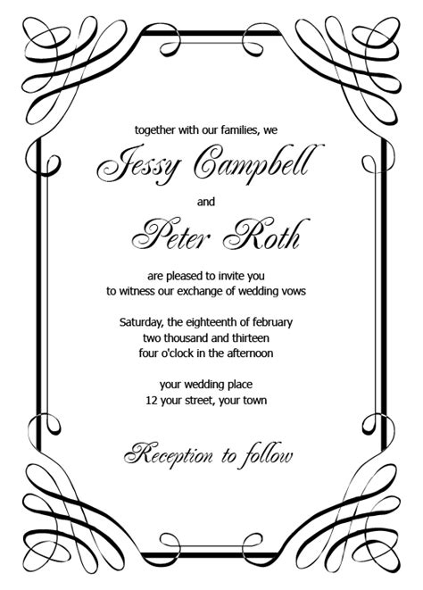 30 Free Printable Wedding Invitations To Download For Free Free Printable Wedding Free Printable Wedding Invitation Templates